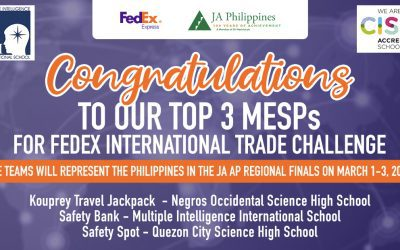 MI Upper Schoolers TOP 3 in FedEx/JA Int'l Trade Challenge